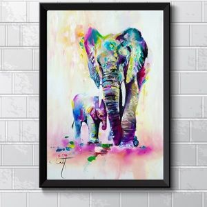 BEAUTIFUL COLORFUL ELEPHANT PAINTING